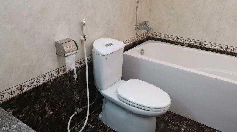 ハイアウホテルの浴室
