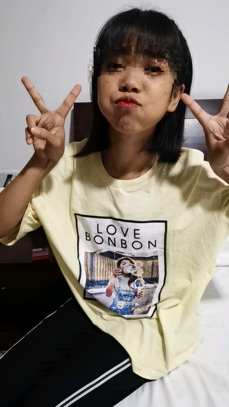 ヤンゴンのアップルバーで見つけたかわいい子