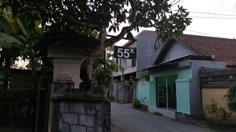 バリ島の55Xの番号置屋